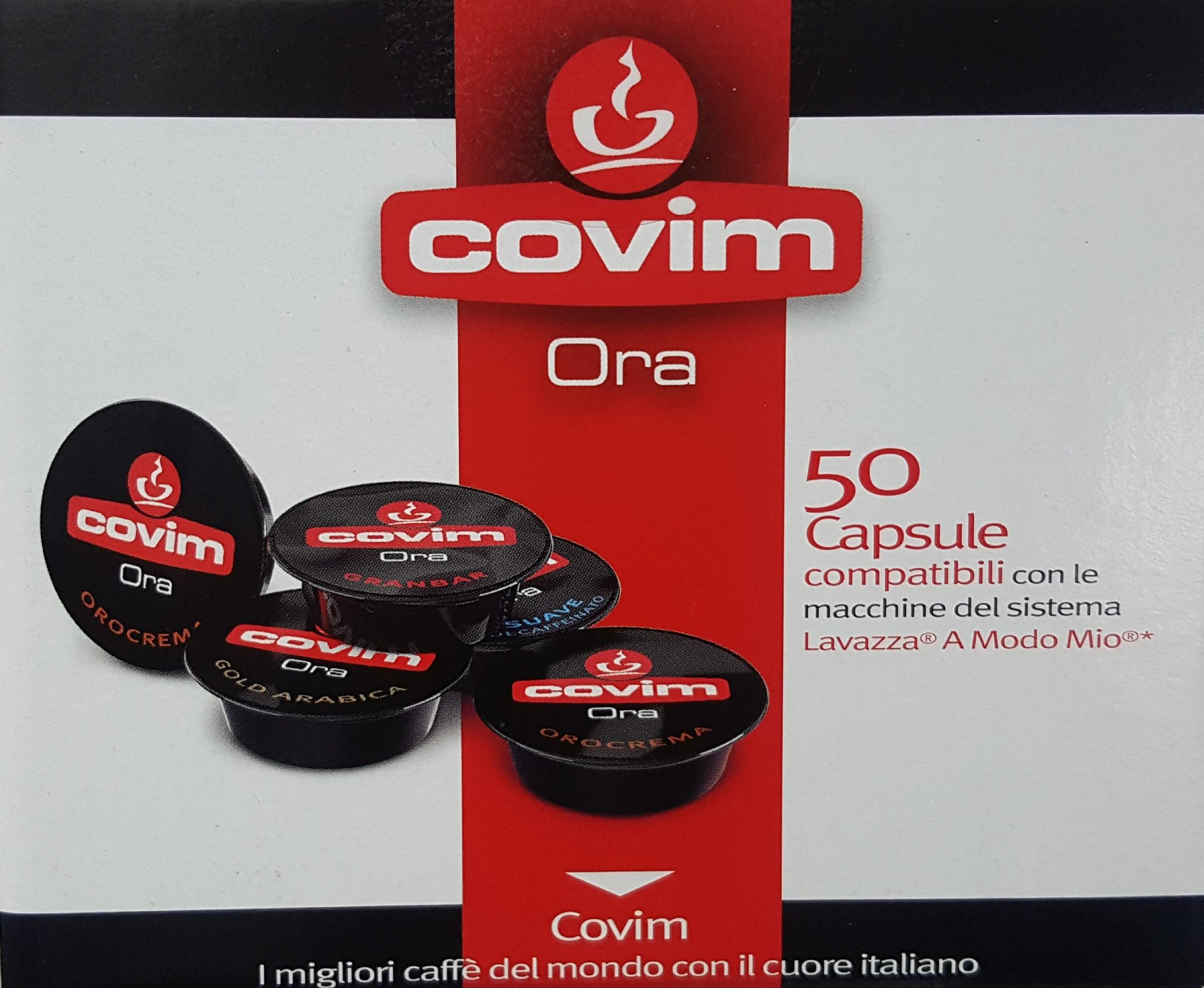 50 Capsule Covim Ora Orocrema Compatibili Lavazza a Modo Mio